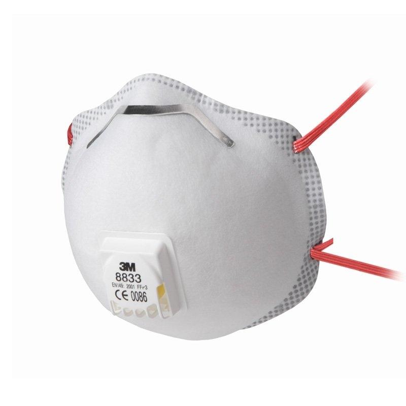 3M Comfort - Stofmasker met ventiel 8833S