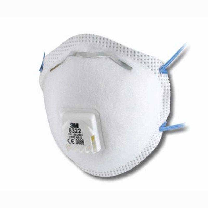 3M Comfort - Stofmasker met ventiel 8322