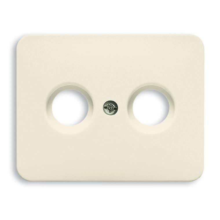 abb busch jaeger alpha centraalplaat coax 1743 22g cr me. Black Bedroom Furniture Sets. Home Design Ideas