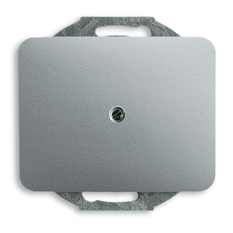 abb busch jaeger alpha exclusive blindplaat 1749 266 titanium. Black Bedroom Furniture Sets. Home Design Ideas