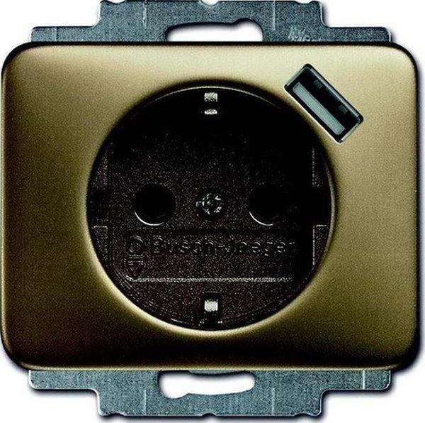 abb busch jaeger alpha nea wandcontactdoos 20 eucbusb 21 brons. Black Bedroom Furniture Sets. Home Design Ideas