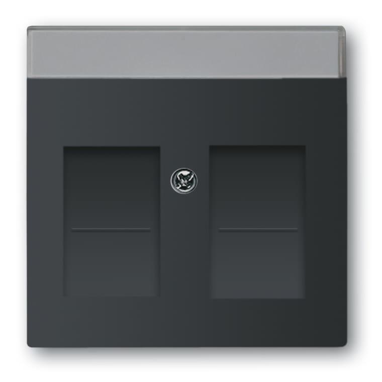 abb busch jaeger future linear centraalplaat rj45 1800 885 zwart mat. Black Bedroom Furniture Sets. Home Design Ideas