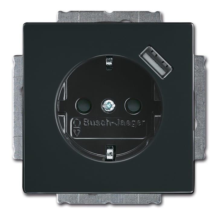 abb busch jaeger future linear wandcontactdoos 20 eucbusb 81 antraciet. Black Bedroom Furniture Sets. Home Design Ideas