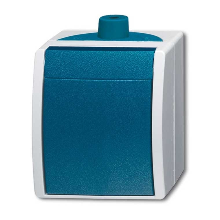 abb busch jaeger ocean ip44 schakelaar 2601 7 w 53 503 blauwgroen. Black Bedroom Furniture Sets. Home Design Ideas