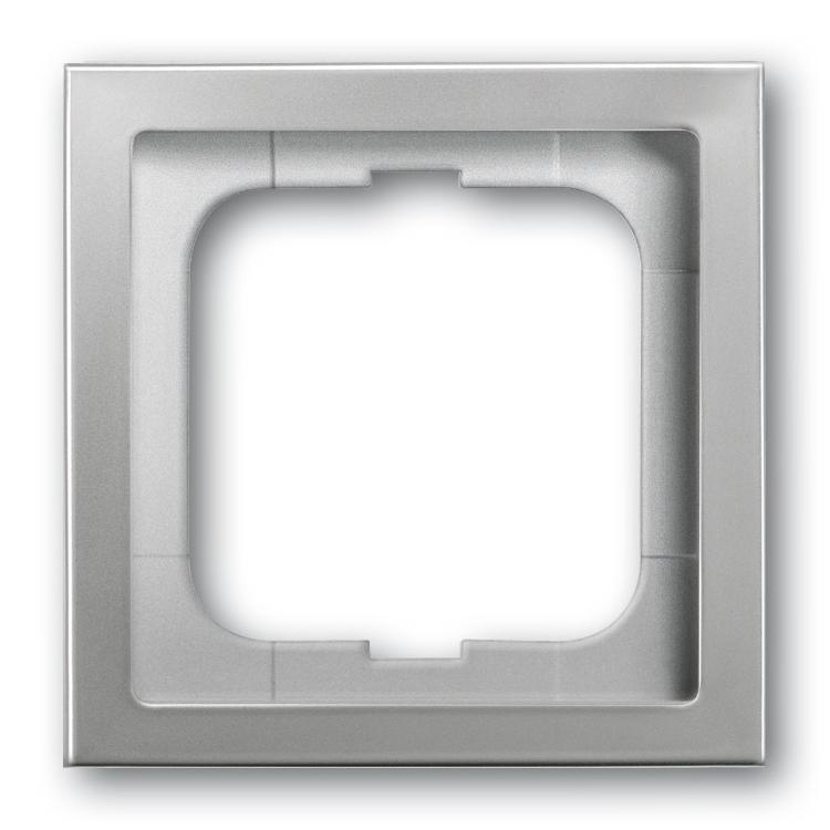 abb busch jaeger pure stainless steel afdekraam 1721 866k rvs. Black Bedroom Furniture Sets. Home Design Ideas