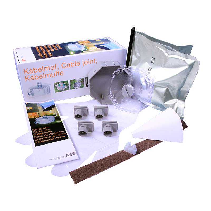 ABB Haf Hafobox - Gietmofpakket kabeldoos met hars KM8/16