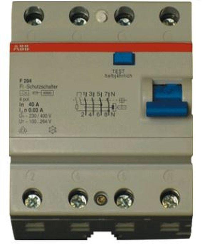 ABB Haf System Pro M - Aardlekschakelaar F204A 63/0,3