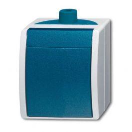 abb busch jaeger ocean ip44 schakelaar 2601 6 w 53 503 blauwgroen. Black Bedroom Furniture Sets. Home Design Ideas