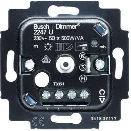 abb busch jaeger basiselement dimmer 2247 u druk draai. Black Bedroom Furniture Sets. Home Design Ideas