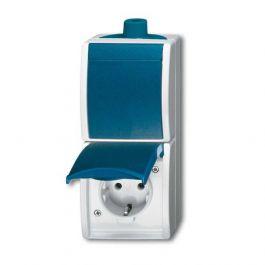 abb busch jaeger ocean ip44 combinatie schakelaar wandcontactdoos 2601 6 20ew 53 blauwgroen. Black Bedroom Furniture Sets. Home Design Ideas