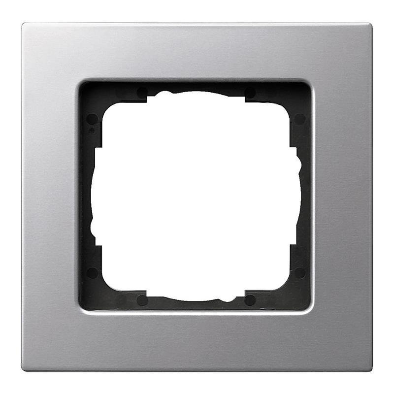 gira e22 afdekraam 0211203 aluminium. Black Bedroom Furniture Sets. Home Design Ideas