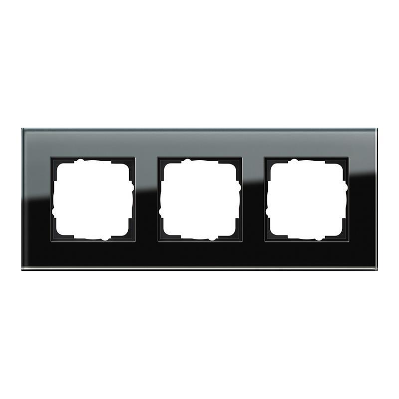 gira esprit glas afdekraam 021305 zwart. Black Bedroom Furniture Sets. Home Design Ideas