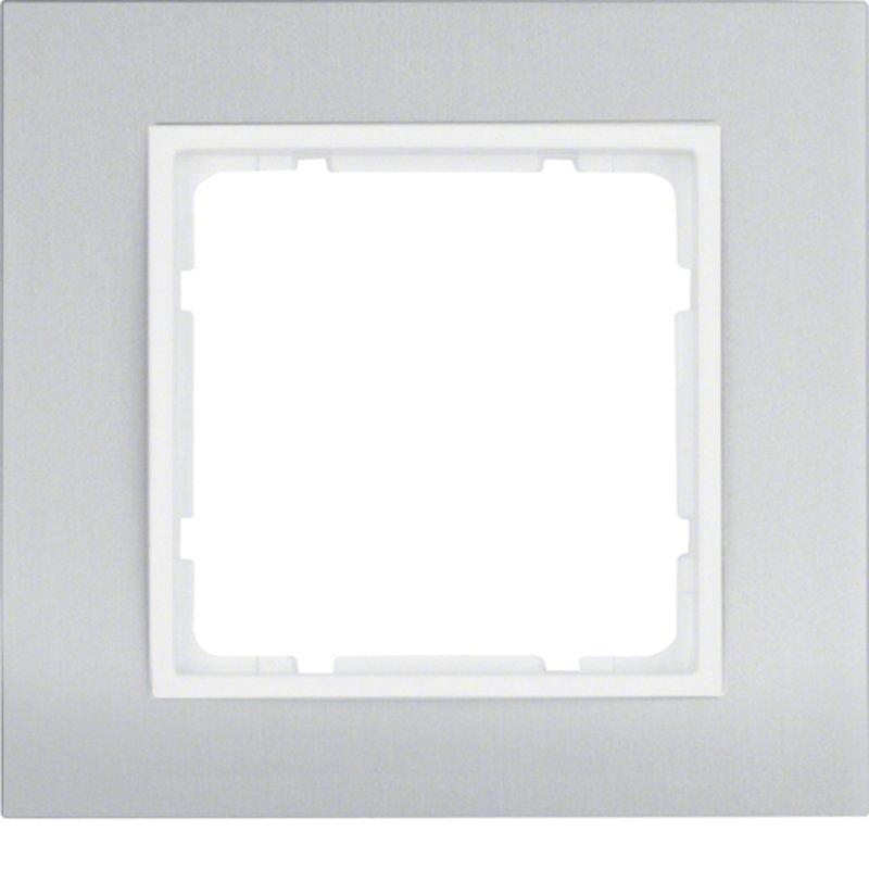 hager berker b 3 afdekraam 10113904 aluminium alpinwit. Black Bedroom Furniture Sets. Home Design Ideas