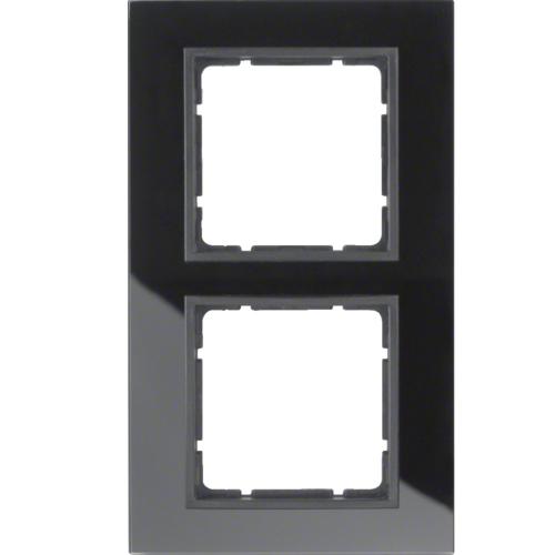 hager berker b 7 glas afdekraam 10126616 zwart antraciet. Black Bedroom Furniture Sets. Home Design Ideas