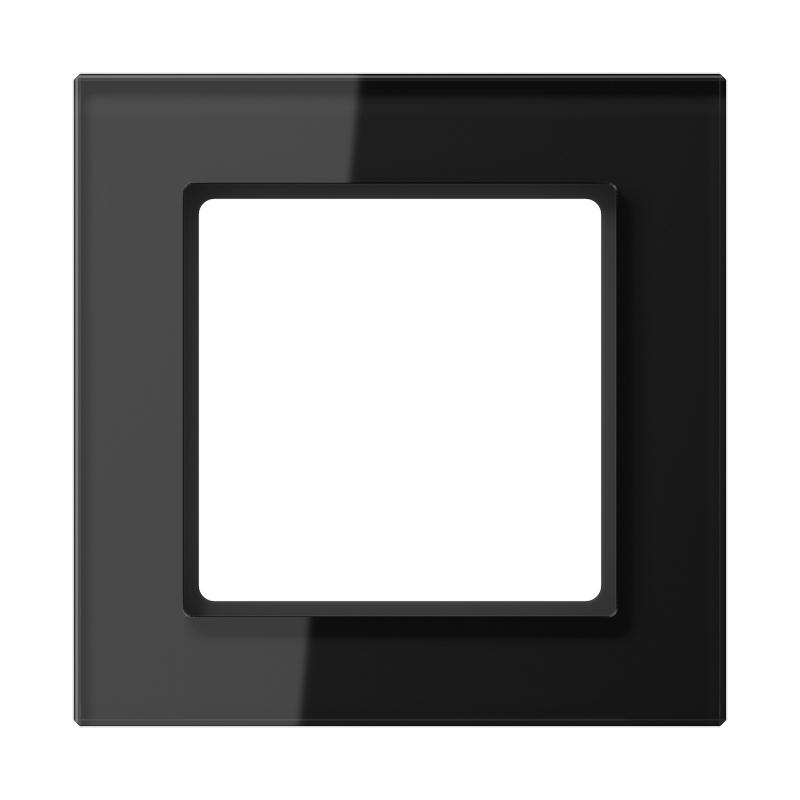jung a creation afdekraam ac581glsw zwart. Black Bedroom Furniture Sets. Home Design Ideas