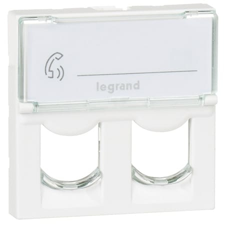 Legrand Mosaic - Centraalplaat RJ45 078603