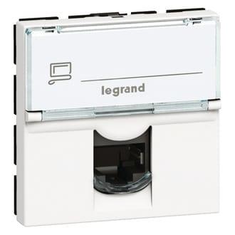 Legrand Mosaic - Centraalplaat RJ45 078604