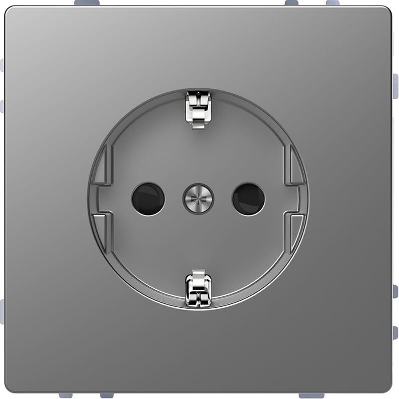 schneider electric merten systeem design wandcontactdoos mtn2300 6036 rvs. Black Bedroom Furniture Sets. Home Design Ideas