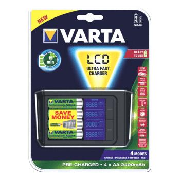 Varta LCD - Batterijlader 57675