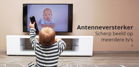 Antenneversterker: voor scherp beeld op meerdere tv's