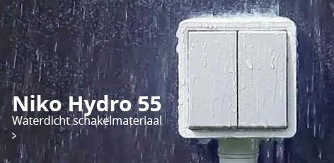 Niko Hydro 55: waterdicht schakelmateriaal