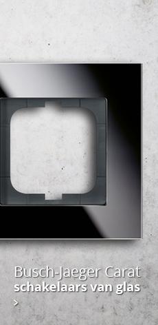 Bekijk de Carat serie van Busch-Jaeger: schakelmateriaal van glas