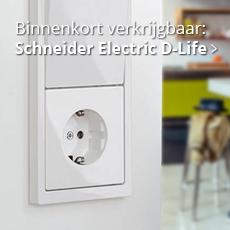 Modern en toch tijdloos: D-Life serie schakelmateriaal van Schneider Electric