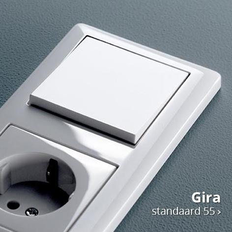 Bekijk de Standaard 55 schakelmateriaal serie van Gira