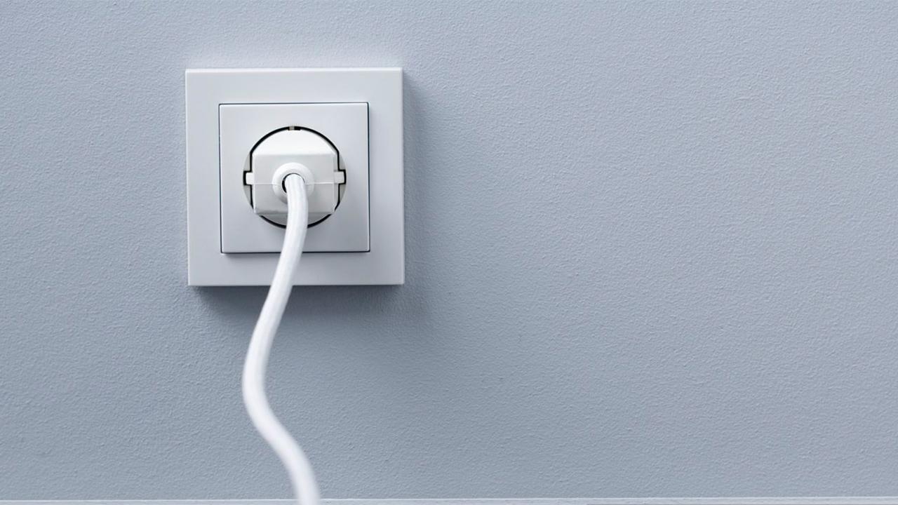 Stekker in een stopcontact