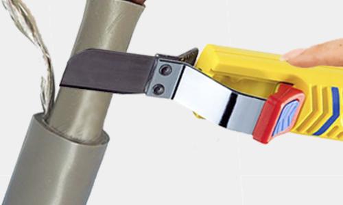 Illustratie van het wegsnijden van de binnenmantel